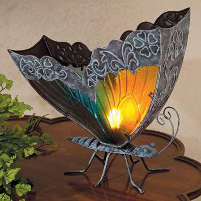 home gifts stained glass butterfly lamp. Black Bedroom Furniture Sets. Home Design Ideas