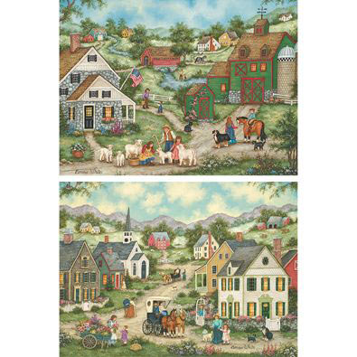 Jigsaw puzzles 187 jigsaw puzzle value sets gt set of 2 country living