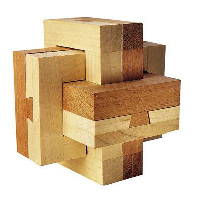 Dovetail Burr Wooden Puzzle