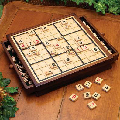 Deluxe Wooden Sudoku Game Board