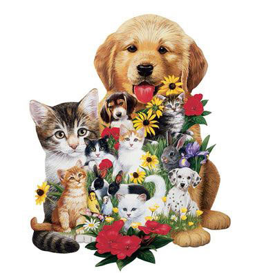 Best Friends 298 Large Piece Shaped Jigsaw Puzzle