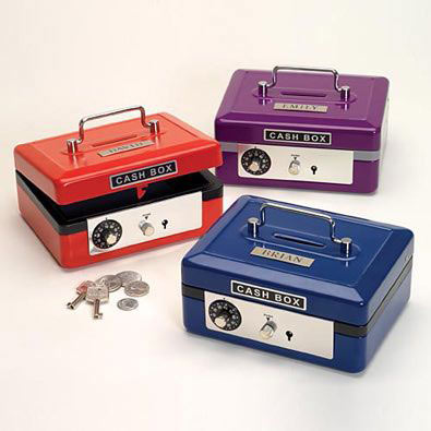 Personalized Cash Box - Purple