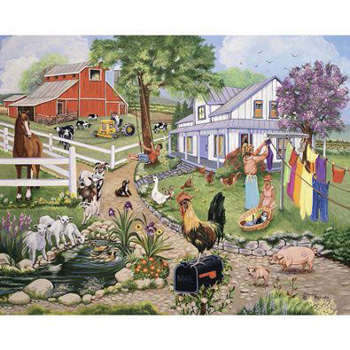 Spring On The Farm 300 Large Piece Jigsaw Puzzle