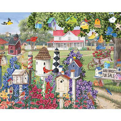 Birdhouses For Sale 300 Large Piece Jigsaw Puzzle