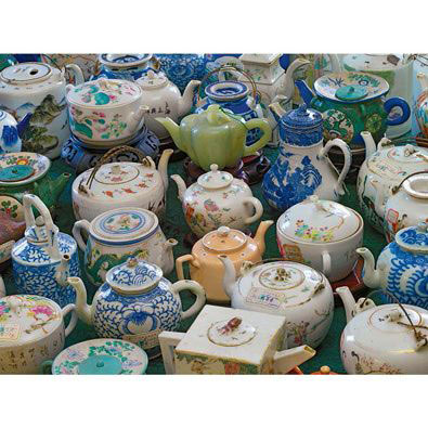 Antique Asian Teapots 1000 Piece Collage Jigsaw Puzzle