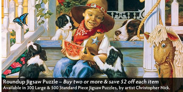 Roundup 300 Large Piece Jigsaw Puzzle